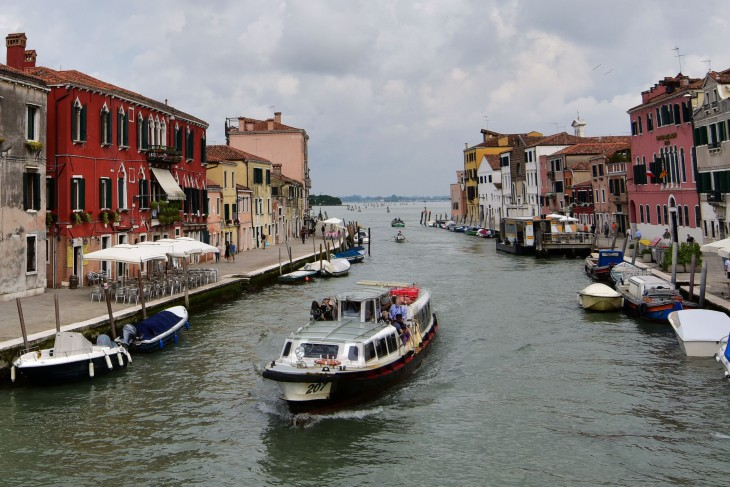 A canal in the morning in Venice, Italy on Saturday, June 11, 2016. The city of Venice is made up of over 100 islands sprinkled throughout the Venetian Lagoon located between the Italian mainland and the Adriatic Sea and are all connected by canals of varying sizes.